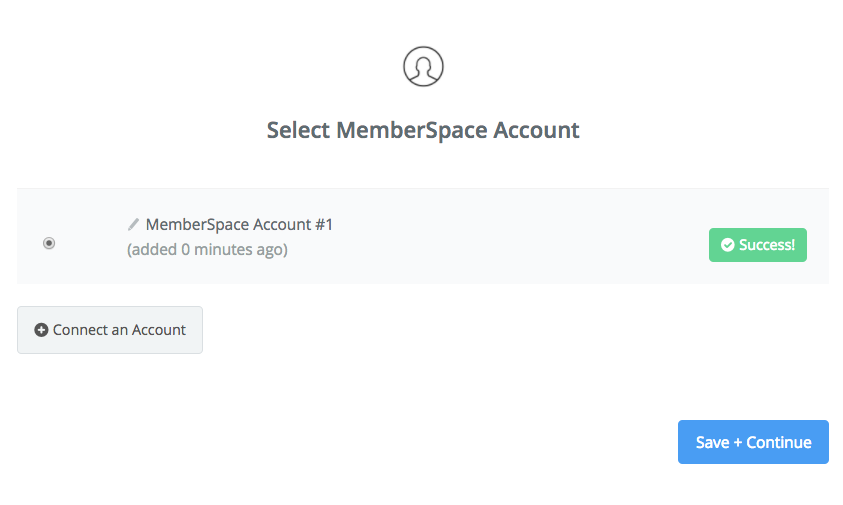 MemberSpace connection successfull