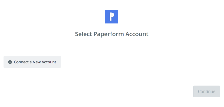 Click to connect Paperform