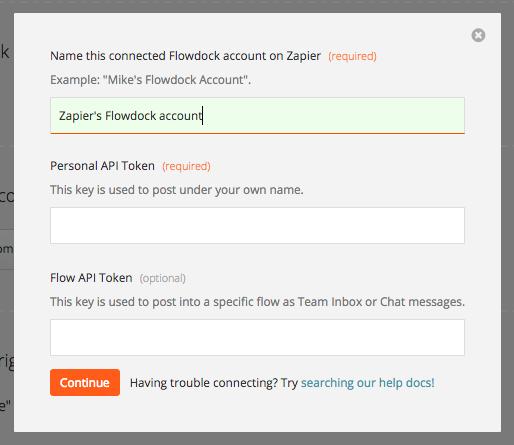 Finding your Flowdock API Key