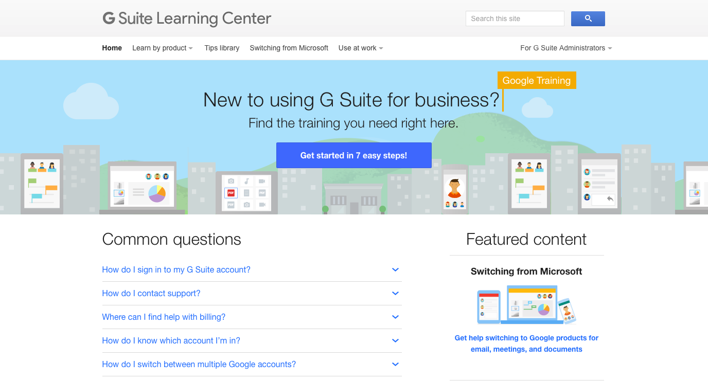 G Suite Learning Center