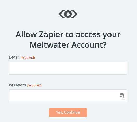 Meltwater username and password
