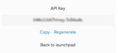 API Key at Your Global Profile