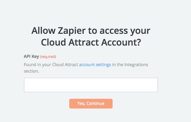 Cloud Attract API Key