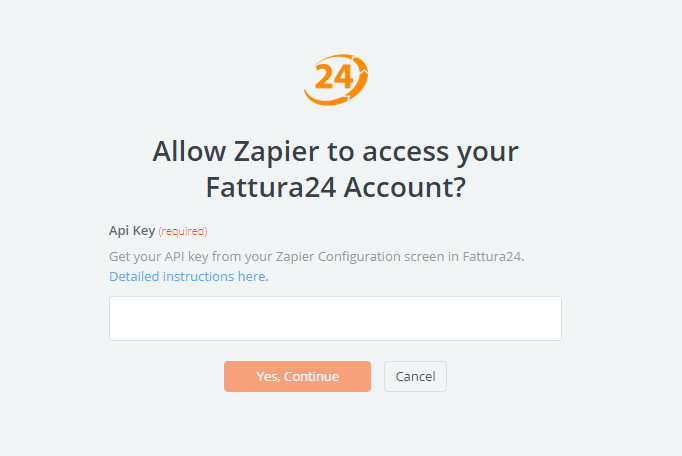 Fattura24 API Key