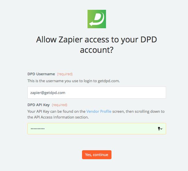 DPD API Key