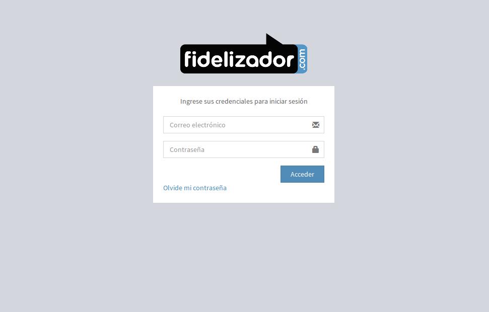 Login to Fidelizador