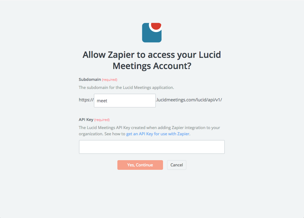 Lucid Meetings API Key