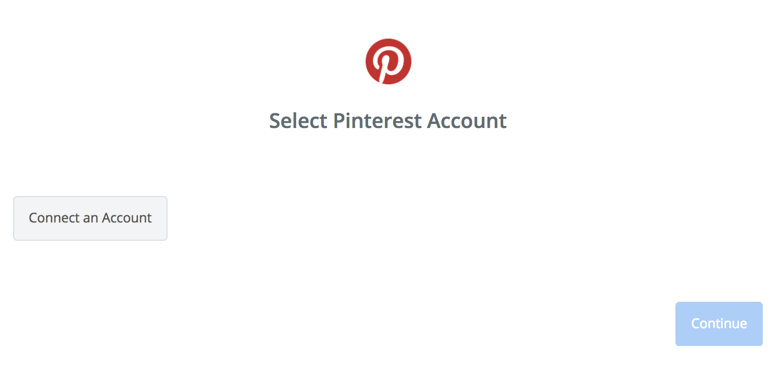 Click to connect Pinterest