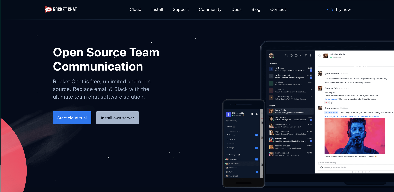 rocketcaht home page