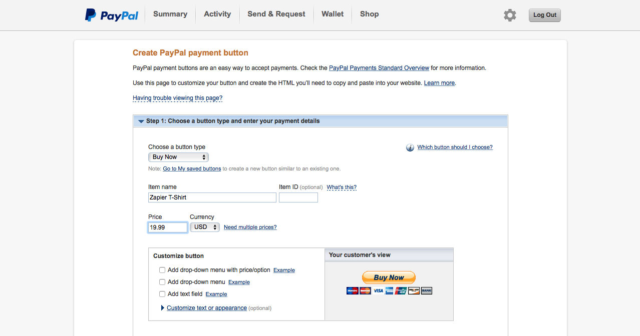 how to accept payments from an online form