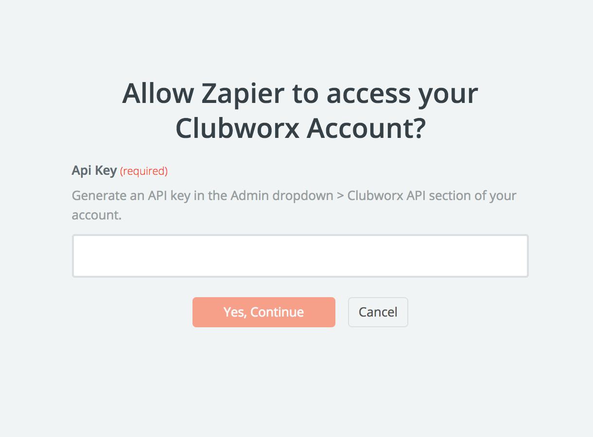 Clubworx API Key