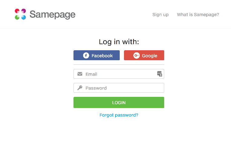 Login to Samepage
