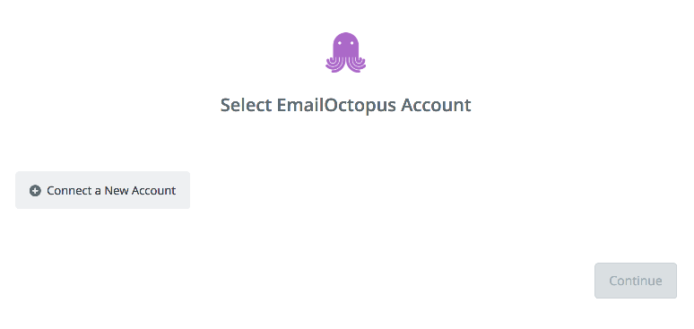 Click to connect  EmailOctopus