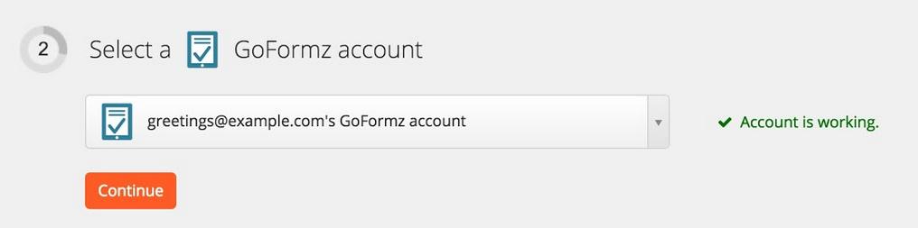 GoFormz connection successfull