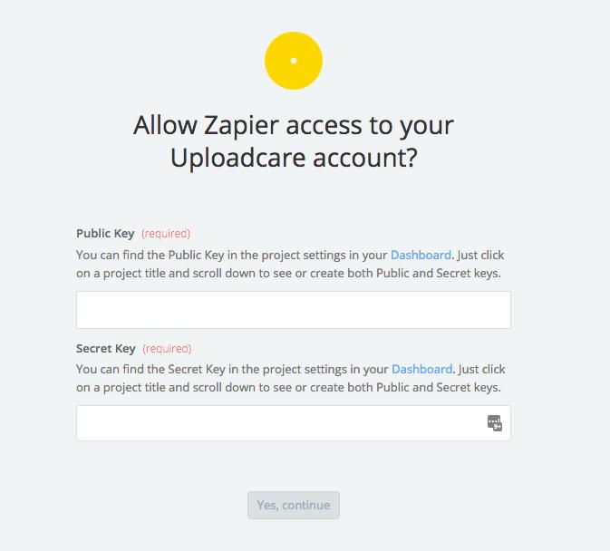 Uploadcare API Key