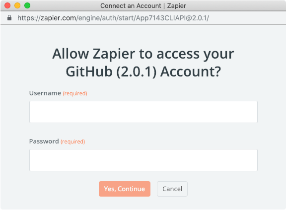 Zapier basic auth for users