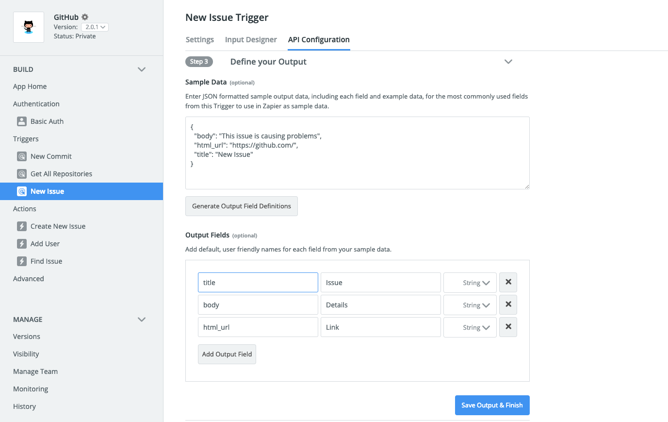 Adding Sample Data to Zapier integration