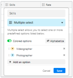 Airtable single select