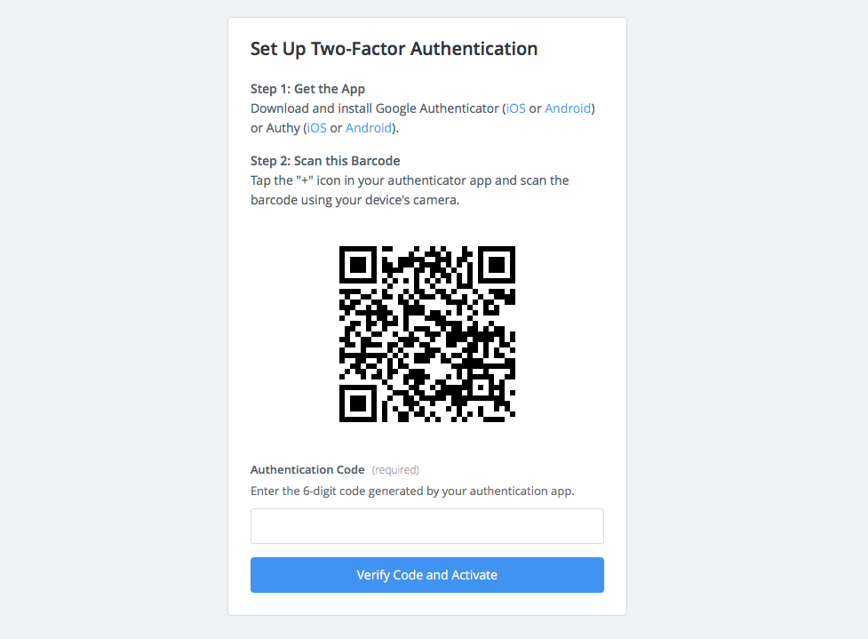 Add Zapier two-factor login