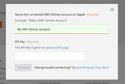 SMS Partner API Key