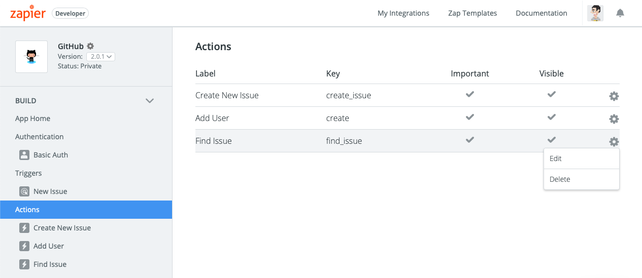 Remove Zapier action