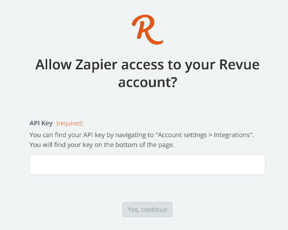 Revue API Key