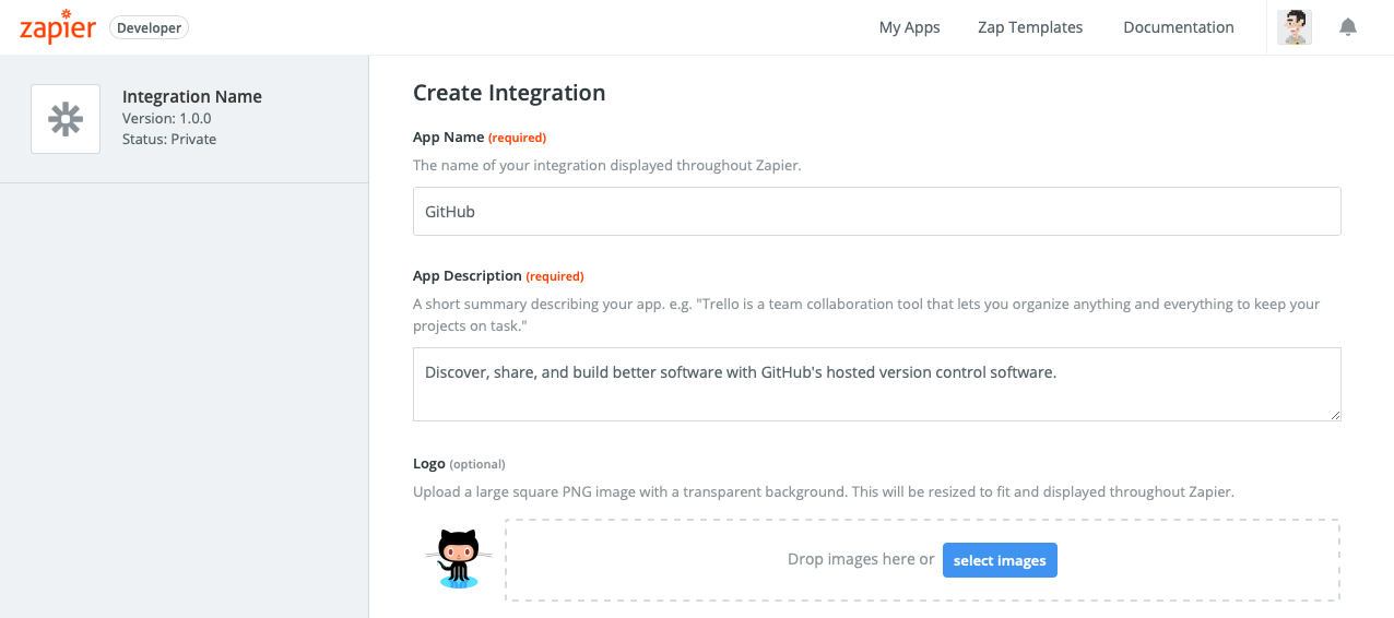 Zapier visual builder add integration
