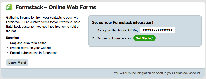 Retrieve your Batchbook API key