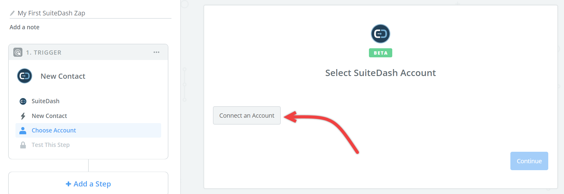 Click to connect  SuiteDash