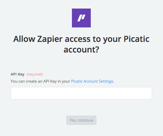 Picatic API Key