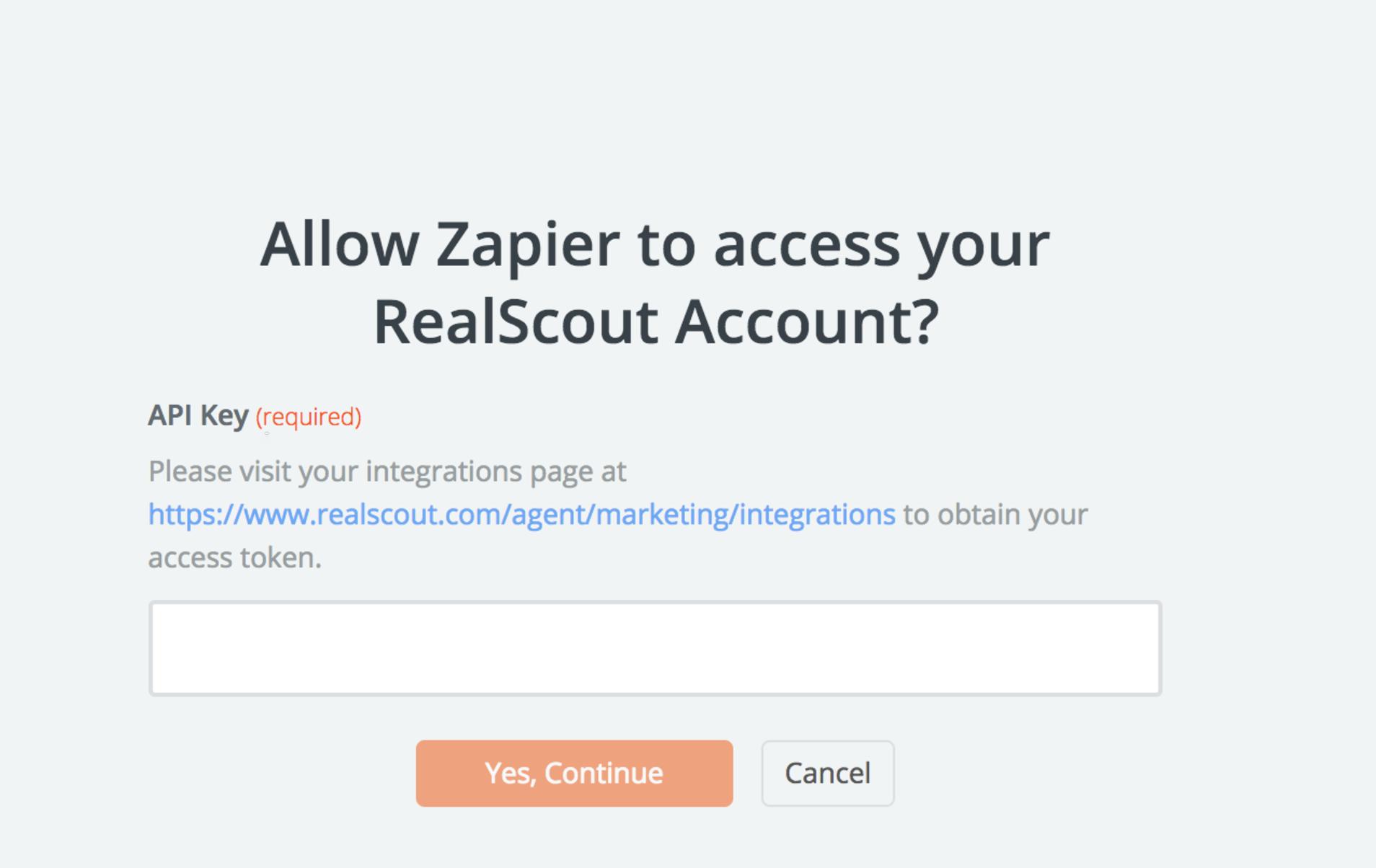 RealScout API Key