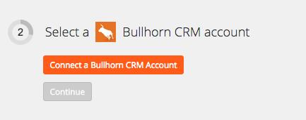 Connect Bullhorn CRM account