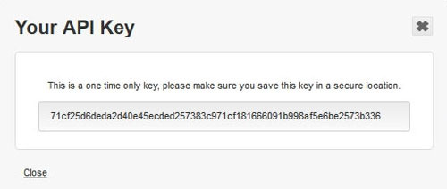 Your API key