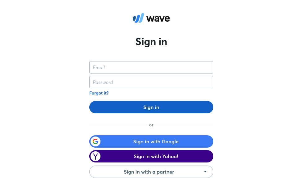 Login to Wave