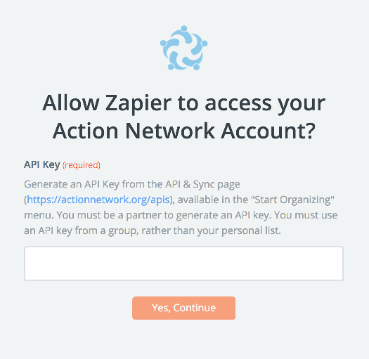 Action Network API Key