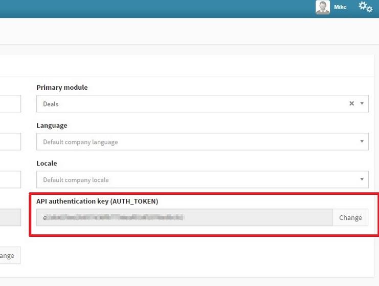 Grab your Teamgate API key