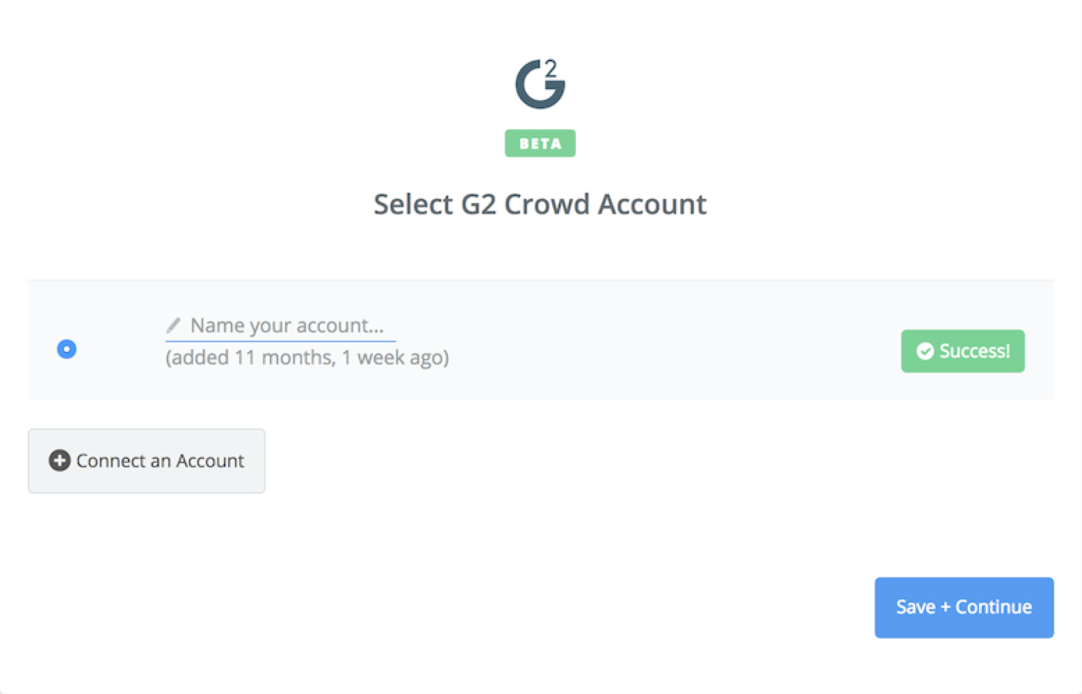 G2 Crowd connection successful
