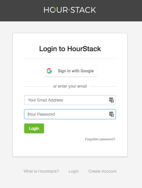 Login to HourStack