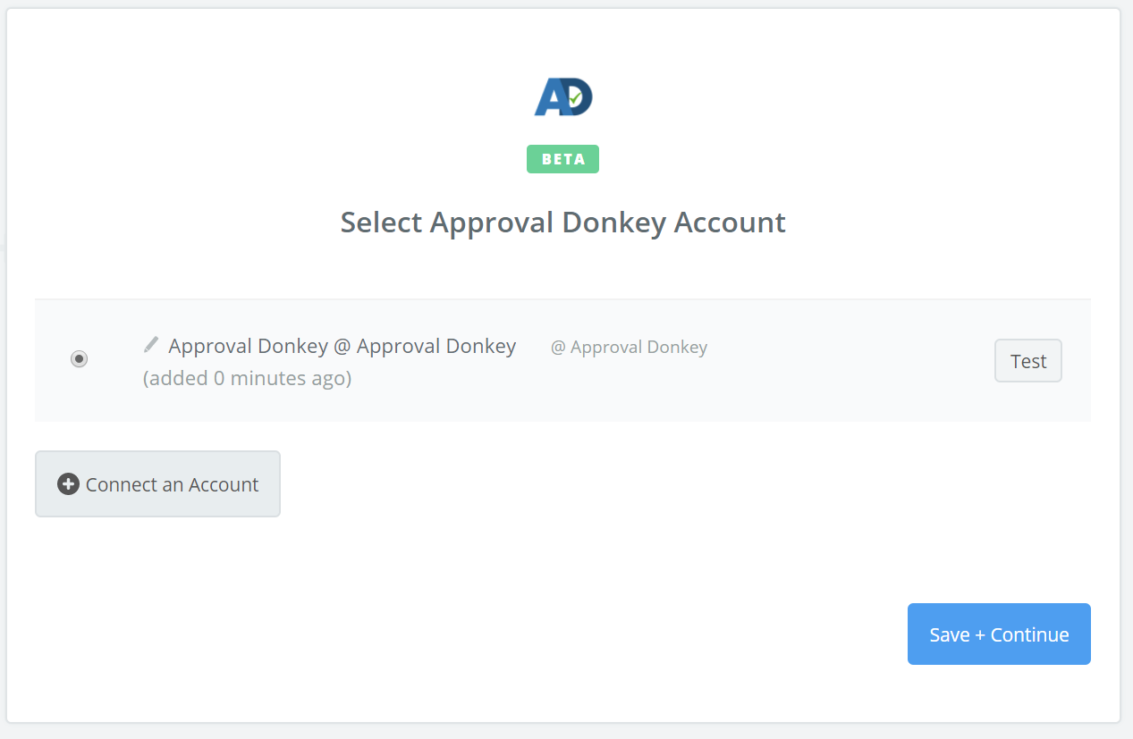 Approval Donkey connection successfull