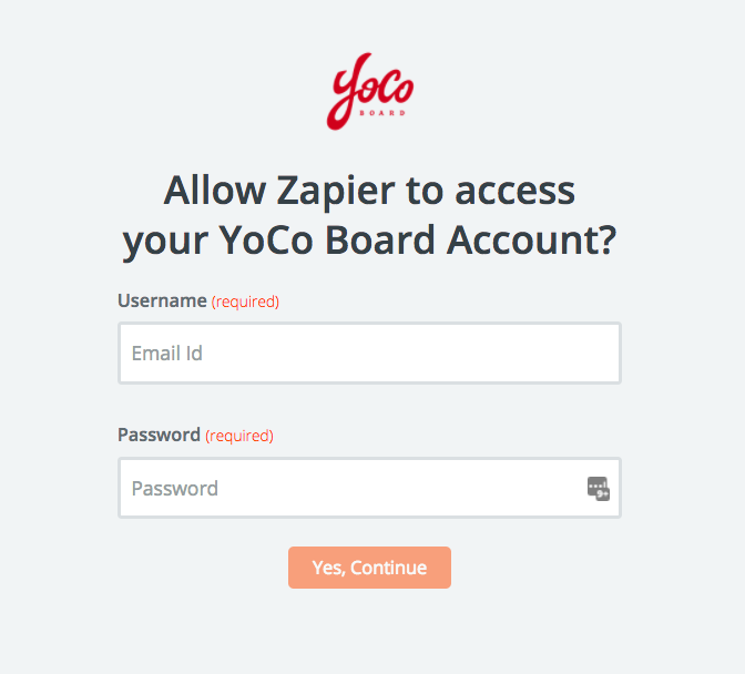 YoCo Boardusername and password