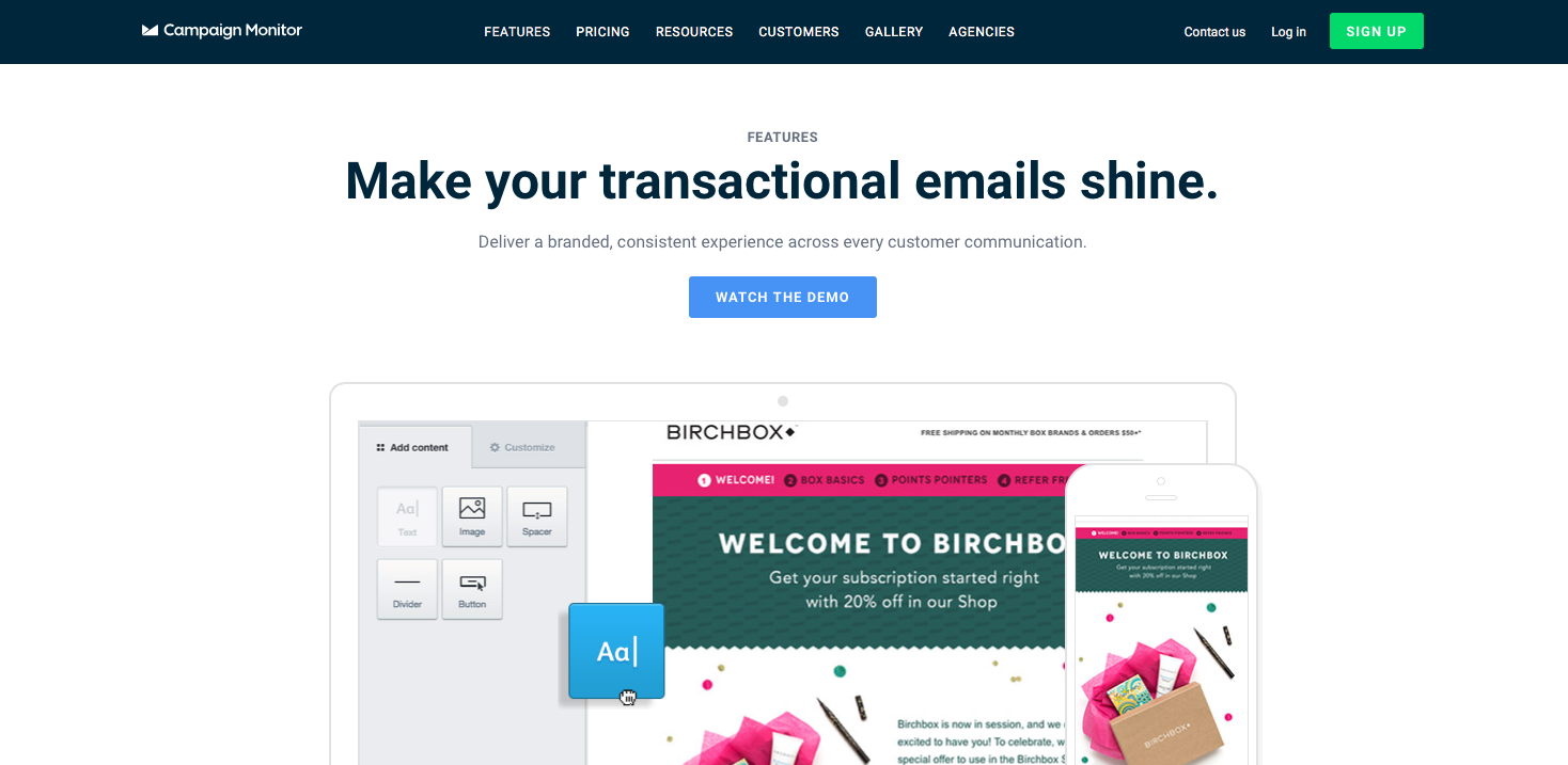 Campaign Monitor Transactional