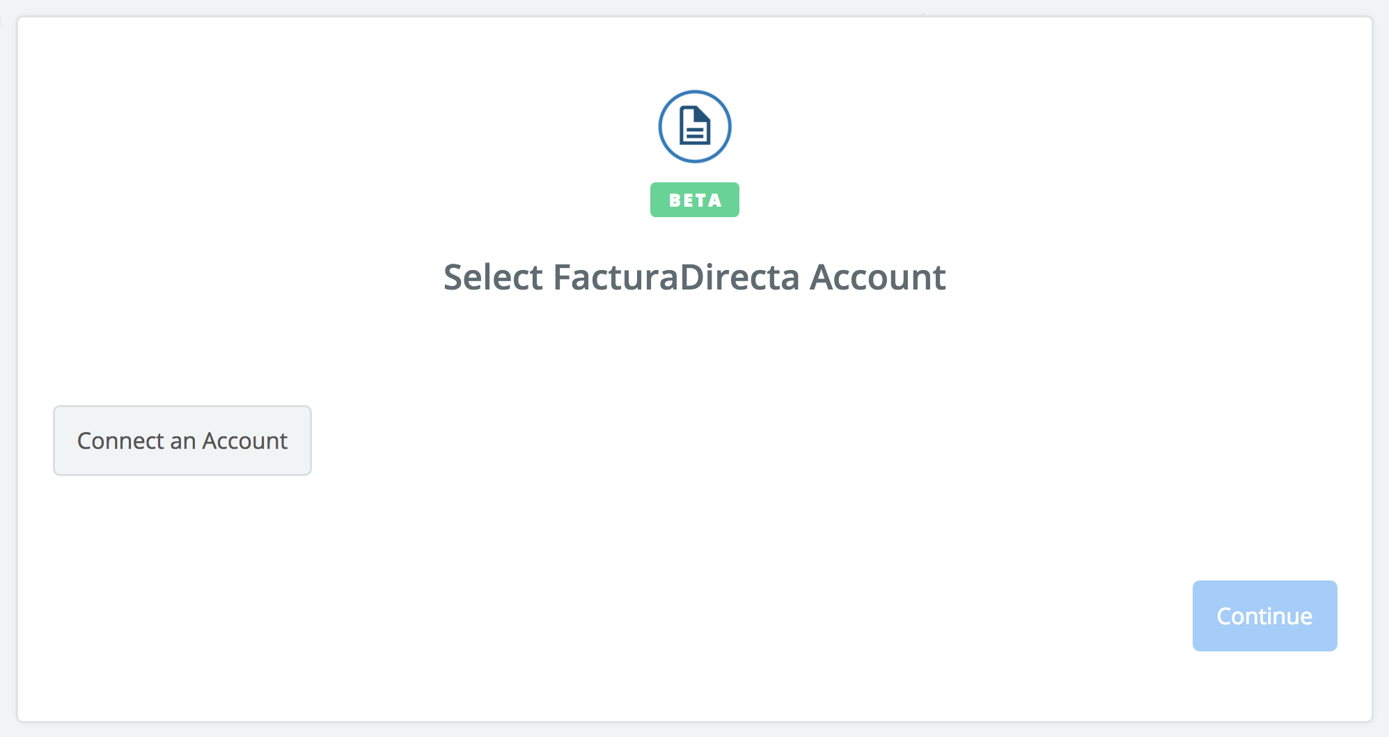 Click to connect FacturaDirecta