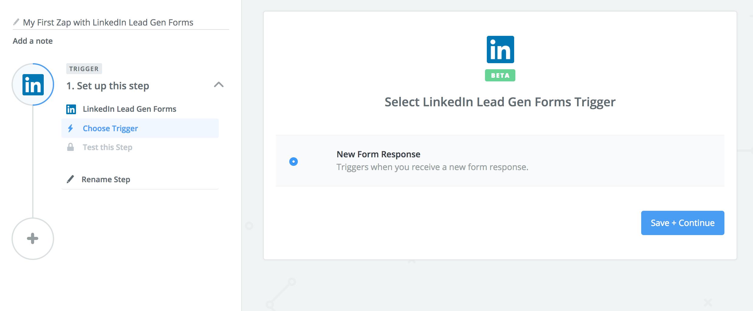 LinkedIn Lead Gen Forms Zapier Trigger