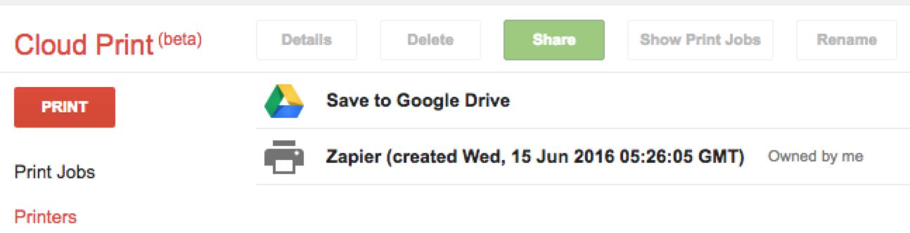 Google Cloud Print - Integration Help & Support | Zapier