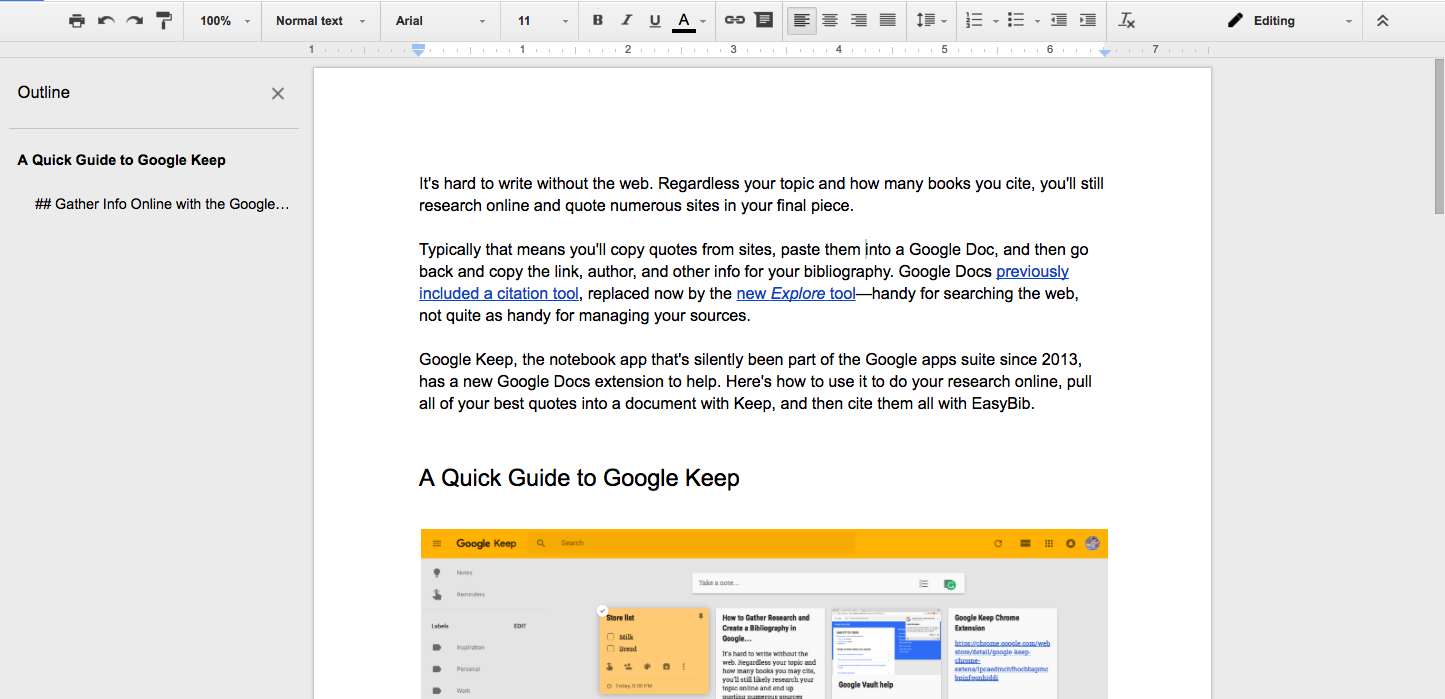 Format Google Docs document for WordPress