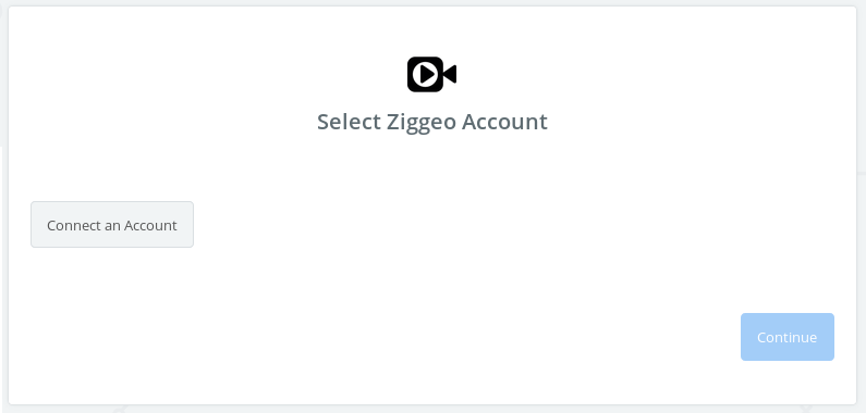 Click to connect Ziggeo