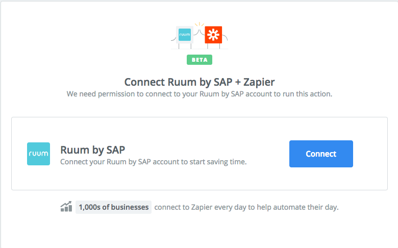 Click to connect  Ruum by SAP