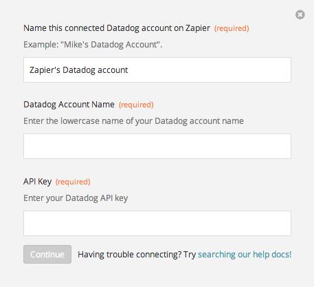 Finding your Datadog API Key