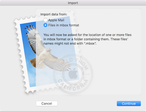 Import Email archive