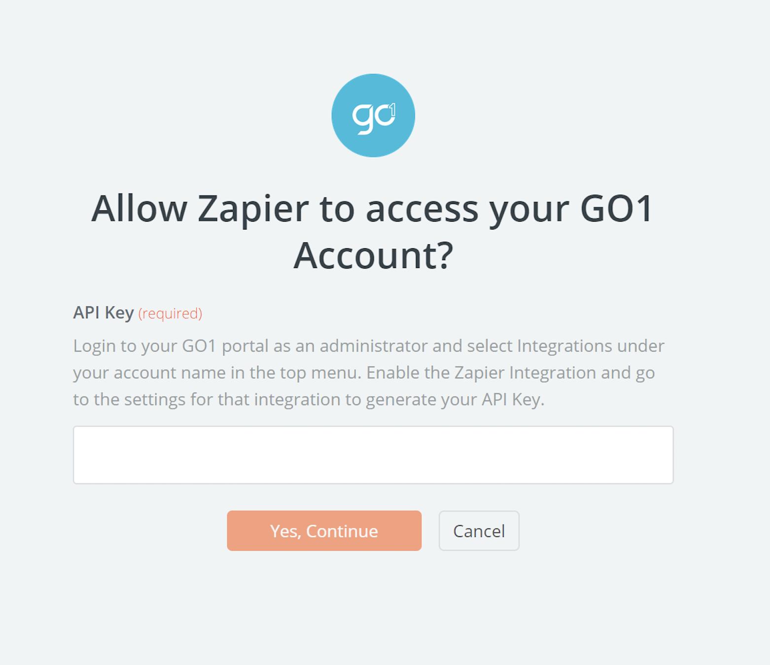 GO1 API Key